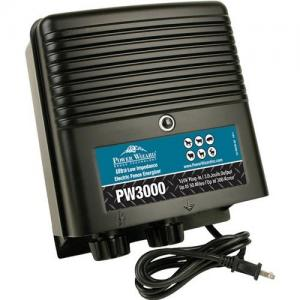 Power Wizard Electric Fence Energizer Charger, PW3000, 110V Plug-In, 3 Joule