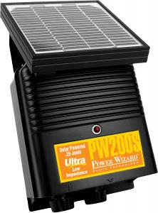 Power Wizard Electric Fence Energizer Solar Charger PW200S