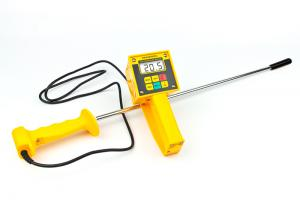 Draminski HMM Hay & Silage High-Moisture Meter with Probe Plus Temperature Display, Moisture Range 10-80%